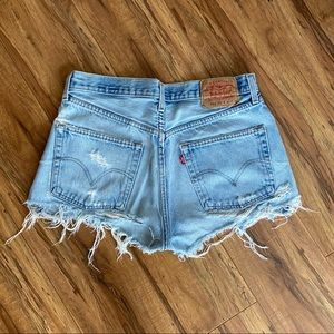 Vintage Levi's 501 High Waist Cutoff Shorts 33W